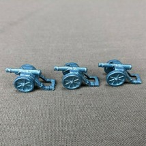 Risk 40th Anniversary Edition Board Game Metal Cannons 3 Pieces Blue Army - $6.85