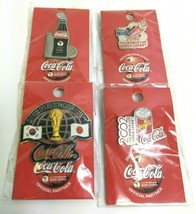 4 2002 Fifa World Cup KOREA/JAPAN Coca Cola Pins Badge Misp Sealed Lot Rare - $98.99