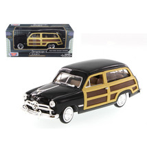 1949 Ford Woody Wagon Black 1/24 Diecast Model Car by Motormax 73260bk - $45.28