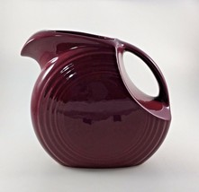Fiesta Cinnabar Burgundy Maroon Wine Disc Pitcher Large Milk Juice Retir... - $49.45