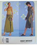 UNCUT Vogue 2556 Issey Miyake Draped Dress Skirt Pattern 14 16 18 Design... - $29.99