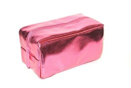 bareMinerals makeup bag Pink shiny faux leather Cosmetic Makeup Pouch case Bare - $7.87