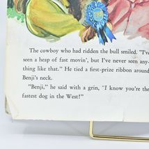 A Little Golden Book Joe Camp's Benji Fastest Dog in the West 111-6 2nd Printing image 6