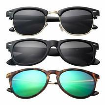 Polarized Sunglasses, Classic Frame Driving, Retro Designer 100% UV Block 3 PCs - $18.80