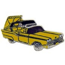 Ford Retractable 1958 Yellow Car Emblem Pin Pinback - $7.91