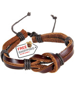 Leather Strap Bracelet 8 Shaped Buckle Knot Fashion Jewelry + Free Shipping - $12.00