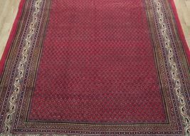 Vivid Boteh Flamed All-Over Persian Hand-Knotted 7x10 Red Mir Wool Area Rug image 12