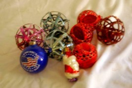 Lot Of 9 Vintage Christmas Ornaments - $6.29