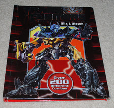 Transformers Revenge of the Fallen Mix & Match Book 200+ Combos Spiral Flip - $13.32