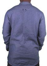 KR3W California Mens krew Motorbreath Lined Reversible Indigo Denim Shirt NWT image 4