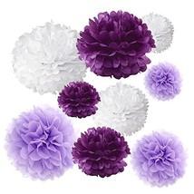 Gold Fortune 18PCS Tissue Hanging Paper Pom Poms Flower Ball Wedding Par... - $16.72