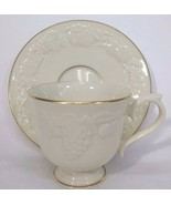 Lenox Fruits Of Life Footed Teacup And Saucer Retired Pattern AL002 - $15.47