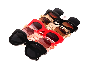 Kim Kardashian Sunglasses Oversized Top Flat Black Women Celine Fashion Cat Eye