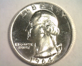 1964 Washington Quarter Choice Uncirculated / Gem+ Ch. Unc. / Gem+ Nice Original - $19.00
