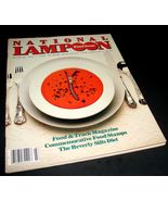 NATIONAL LAMPOON Magazine March 1982 VG FOOD ISSUE Soup Adult Humor Satire - $17.99