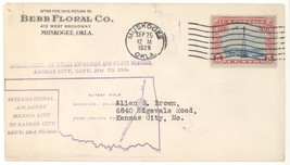 C11 Int'l Air Derby Mexico City - Kansas City Sept 23 1929 Muskogee OK C... - $5.89
