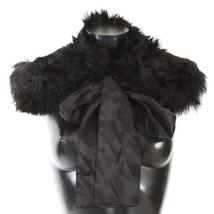 Dolce & Gabbana Black Alpaca Fur Shoulder Collar Scarf 157536 - $423.91