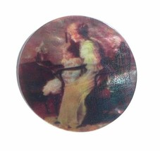 """Mother Teaching Daughter To Read on MOP - Mother Pearl Shank Button 1-3/8"""" - $11.99"""