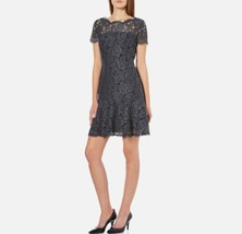 Diane von Furstenberg FIFI lace dress, color grey, size 12 - $137.46