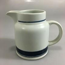 Royal Doulton Biscay Lambeth Stoneware Creamer Blue White 12 oz England - $27.44