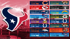 Houston Texans 2017 NFL schedule Poster 24 X 36 inch - $18.99
