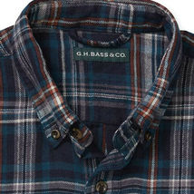 G.H. Bass & Co. Men's Long Sleeve Flannel Plaid Casual Button Up Shirt - M image 3