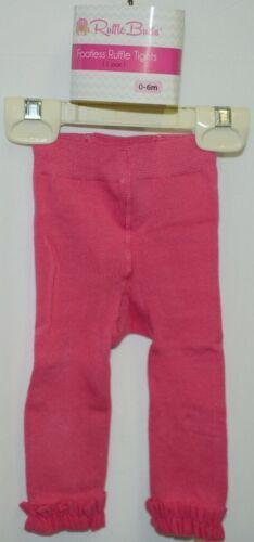 RuffleButts RLKCA000000 Candy Ruffle Tights Hot Pink Size 0 to 6 Months