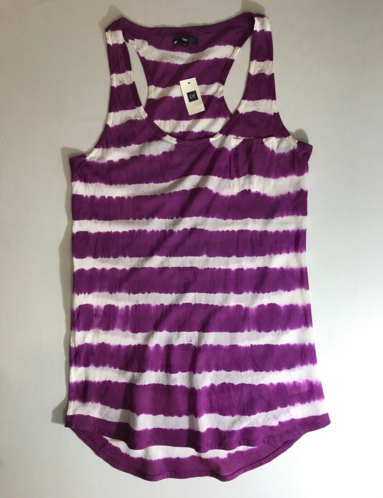 Primary image for Gap Scoop Neck Racer Back Tank Top Purple Silk Blend in size Medium