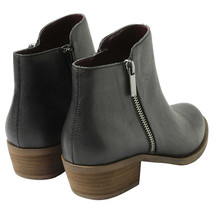 New Kensie Women's Black Leather Ghita Short Ankle Boots 6.5 9.5 7.5 8.5 10 NWOB image 2