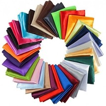 Mens Pocket Squares Handkerchief For Wedding Party, Solid Colors (30 Pie... - $32.55