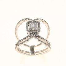 18k White Gold Diamond Occasion Ring UK Size M BHS - $1,984.90