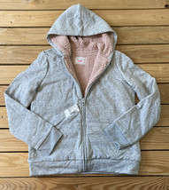 place NWT $39.95 girls full zip hoodie jacket size 14 grey - $15.74