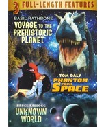 NEW DVD 3-in-1 Voyage to Prehistoric Planet / Phantom from Space / Unkno... - $6.74