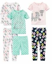 Simple Joys by Carter's Girls' Little Kid 6-Piece Snug Fit Cotton Pajama... - $17.47