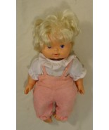Baby Check-up 61-613fg Vintage Baby Doll in Pink Plastic Fabric - $19.32