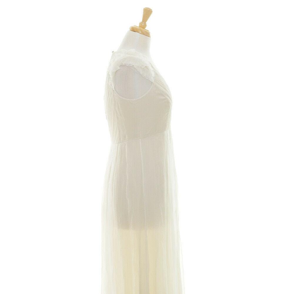 $2200 Saja Boho Beach Silk Ivory Keyhold Back Cap Sleeve Bridal Wedding Dress 6