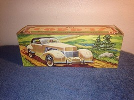 Vintage 1937 Cord Car Model 812 Avon Bottle Full Decanter NIB - $24.70
