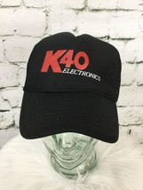 K40 Men's One Sz Snapback Trucker Hat Black Meshback Nissun Baseball Cap VTG - $19.79