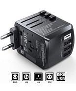 Gimars Upgraded No Falling Out Universal International Travel Adapter wi... - $15.77