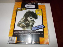 Dog Pet Costume Soldier Fits Cats Too Adjustable Regent Products  NIP - $4.95