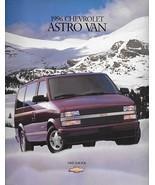 1996 Chevrolet ASTRO VAN sales brochure catalog 96 US Chevy LS LT - $6.00