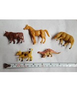 Lot of 6 Kids Plastic Variety of Toy plastic Animals • pre-owned • farm ... - $7.66