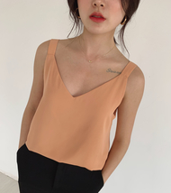 2020 V-neck Chiffon Sleeveless Top Ladies Chiffon Tank Bridesmaid Chiffon Tank T image 10