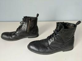 Timberland Cobleton 5547A Side Zip Black Leather Cap Toe Boots - Men's U... - $30.79