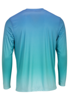 Sun Protection Long Sleeve Dri Fit Blue Mist Teal fade sun shirt UPF 50+ image 3