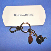 Dooney & Bourke Football & Helmet Key Ring Key Chain Clip FOB NEW - $39.00