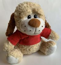 "Plush Dog Puppy Soft Stuffed Animal Toy 10"" Soft sitting Giftable World - $10.88"