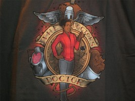 "Tee Fury Doctor Who Large ""The Doctor's Doctor"" Martha Jones Megan Lara Charcoal - $16.00"