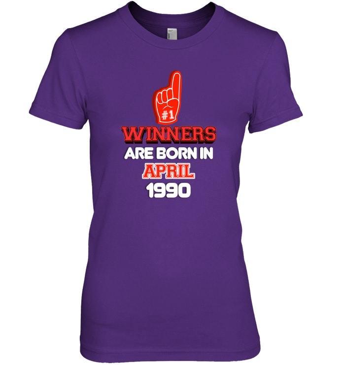 April 1990 28th Birthday Sports Fan Birthday Shirt image 3