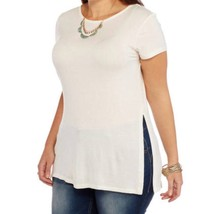 Extra Touch Scoop Neck Women's Plus Top With Lace Up Back Detail, Size 2X - $12.37